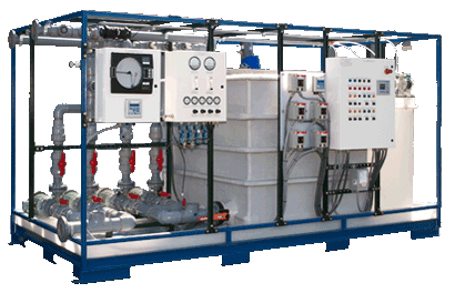 pH Neutralization System, 60 GPM capacity for the neutralization of acid and caustic